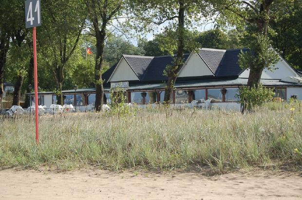 Die Strandhalle Harriersand